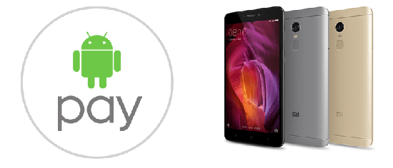 Есть ли NFC модуль и Android Pay на Xiaomi Redmi Note 4